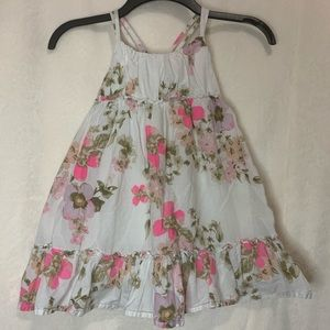 Floral Criss Cross Back Summer Dress- Size 4T
